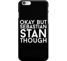 Sebastian Stan - White Text iPhone Case/Skin