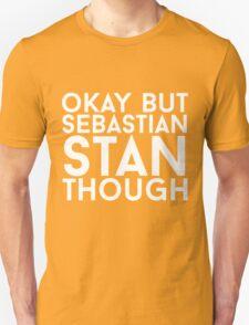 Sebastian Stan - White Text T-Shirt