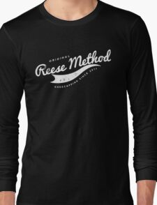 Person of Interest - Original Reese Method of Kneecapping (white lettering) Long Sleeve T-Shirt