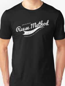 Person of Interest - Original Reese Method of Kneecapping (white lettering) Unisex T-Shirt