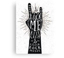 Rock Me Canvas Print