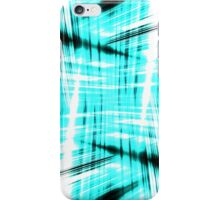 Black and blue streaks iPhone Case/Skin