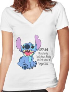 lilo and stitch  Women's Fitted V-Neck T-Shirt