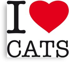 I ♥ CATS Canvas Print