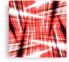 Black and red streaks Canvas Print