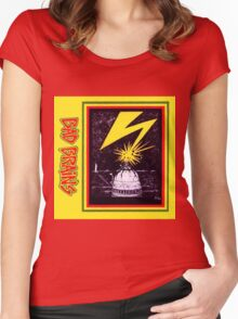 Brains Capitol Lightning Women's Fitted Scoop T-Shirt