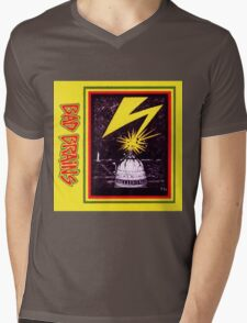 Brains Capitol Lightning Mens V-Neck T-Shirt