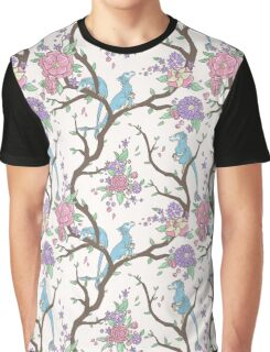 Wildflowers with Dinosaurs Graphic T-Shirt