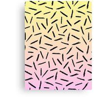 Candy Gradient Scribble Confetti Canvas Print