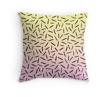Candy Gradient Scribble Confetti Throw Pillow