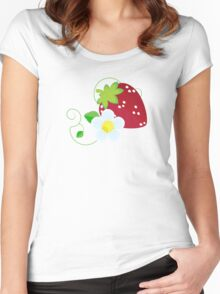 Summer Strawberries Women's Fitted Scoop T-Shirt