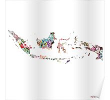 Indonesia map Poster