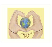 love peace and earth  Art Print