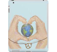 love peace and earth  iPad Case/Skin