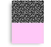 Memphis Black & Pink 80s Canvas Print