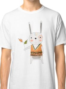 Cartoon Animals Tribal Bunny Rabbit Classic T-Shirt