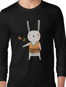 Cartoon Animals Tribal Bunny Rabbit Long Sleeve T-Shirt