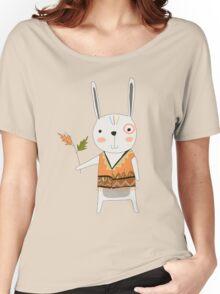 Cartoon Animals Tribal Bunny Rabbit Women's Relaxed Fit T-Shirt