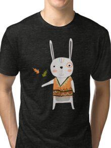 Cartoon Animals Tribal Bunny Rabbit Tri-blend T-Shirt