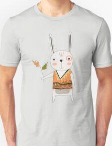Cartoon Animals Tribal Bunny Rabbit Unisex T-Shirt