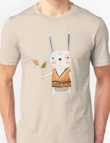 Cartoon Animals Tribal Bunny Rabbit Unisex T-Shirt