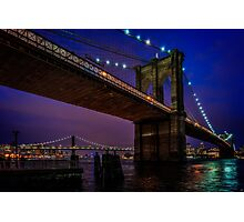 Twilight At The Brooklyn Bridge Photographic Print