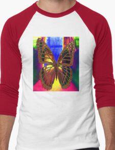 Angel Butterfly Men's Baseball ¾ T-Shirt