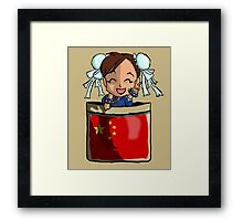 Street Fighter Pocket Pals - #3 Chun Li Framed Print