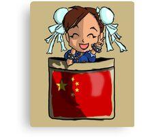 Street Fighter Pocket Pals - #3 Chun Li Canvas Print