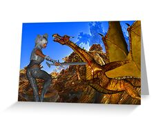 Dragon Slayer Greeting Card