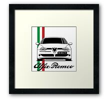 Alfa Romeo 156 GTA (white) Framed Print