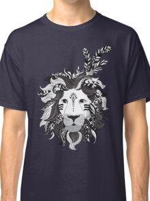 Animal Drawings Regal Tribal Lion Classic T-Shirt