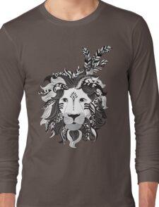 Animal Drawings Regal Tribal Lion Long Sleeve T-Shirt