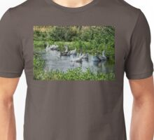 geese on pond Unisex T-Shirt