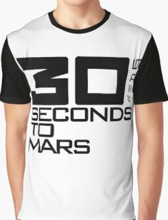 30 seconds to mars black Graphic T-Shirt