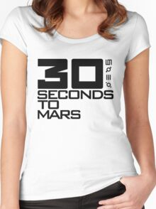 30 seconds to mars black Women's Fitted Scoop T-Shirt