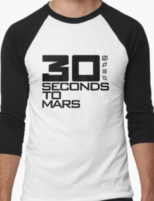 30 seconds to mars black Men's Baseball ¾ T-Shirt