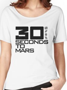 30 seconds to mars black Women's Relaxed Fit T-Shirt