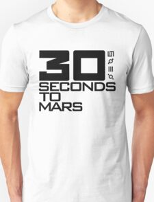 30 seconds to mars black Unisex T-Shirt