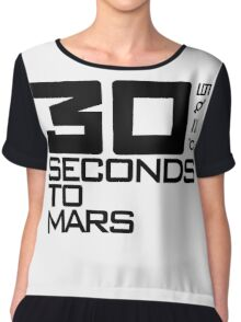 30 seconds to mars black Chiffon Top