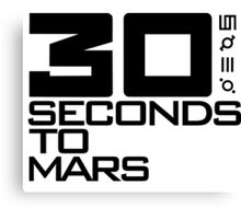 30 seconds to mars black Canvas Print
