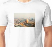 Flying hot air balloon over the Cappadocia Unisex T-Shirt