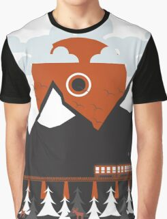 Minimal Sunrise Graphic T-Shirt