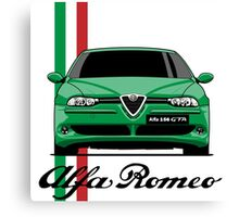 Alfa Romeo 156 GTA (green) Canvas Print