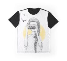 Girl with vintage camera Graphic T-Shirt
