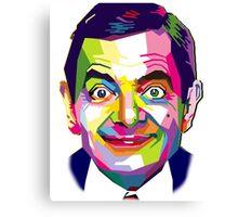 Mr. Bean | PolygonART Canvas Print