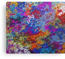 Rusty Rustic Paint Splatter Texture Canvas Print