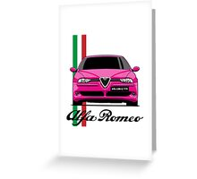 Alfa Romeo 156 GTA (pink) Greeting Card