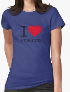 I ♥ PENGUINS Womens Fitted T-Shirt