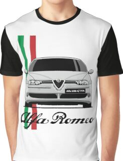 Alfa Romeo 156 GTA (gray) Graphic T-Shirt